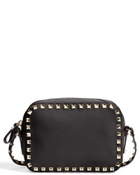 Black and Gold Studded Crossbody Bag