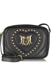 Love Moschino Black Quilted Heart Eco Leather Crossbody Bag