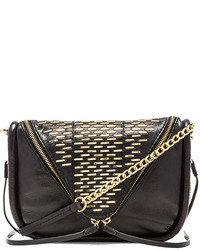 She + Lo Breakthrough Studded Zip Crossbody Bag