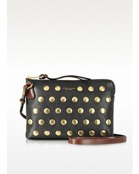 Marc Jacobs Flat Studs Secret Black Leather Crossbody Bag