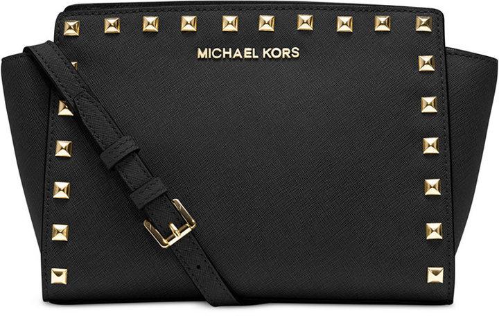 6e114a051a04 ... Leather Crossbody Bags MICHAEL Michael Kors Michl Michl Kors Selma Stud  Medium Messenger ...