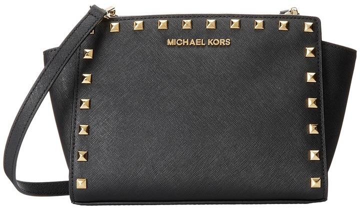 563f680d6b ... low cost gold studded leather crossbody bags michael michael kors michl  michl kors selma stud medium