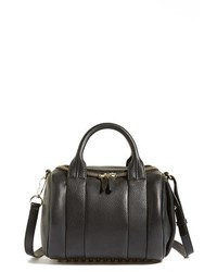 Alexander Wang Rockie Pale Gold Leather Crossbody Satchel Black