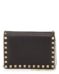 Rockstud pouch crossbody bag black medium 126386
