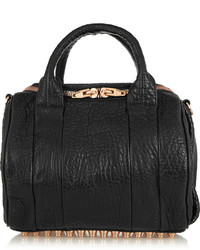 Alexander Wang Rockie Textured Leather Tote Black