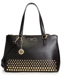DKNY Saffiano Leather Studded Work Shopper