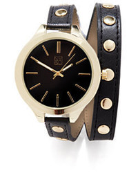New York & Co. Double Wrap Studded Watch