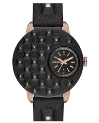 Diesel Flare Biker Leather Strap Watch 42mm