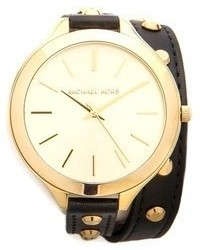Michael Kors Michl Kors Studded Wrap Watch