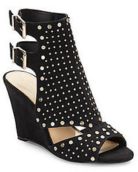 Jessica simpson maack studded faux suede wedge sandals medium 108759