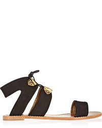 12th street by cynthia vincent sophia suede sandals medium 58477