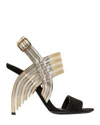 Salvatore Ferragamo 105mm Lenny Suede Leather Sandals