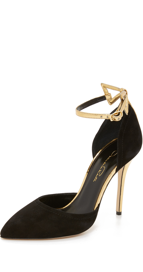 556e259f5cd5 ... Oscar de la Renta Pumps With Bow Detail ...