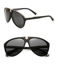 DSquared 2 60mm Metal Trimmed Aviator Sunglasses