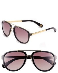 Marc Jacobs 56mm Aviator Sunglasses Ruthenium