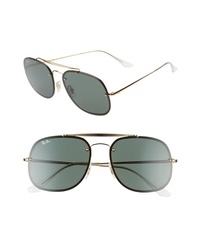 Ray-Ban 58mm Square Aviator Sunglasses