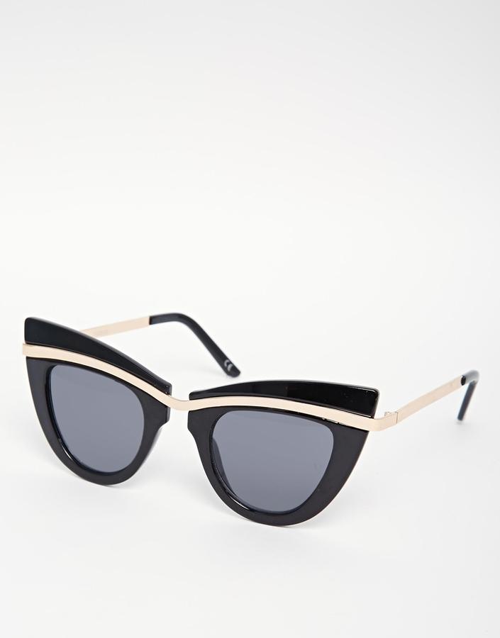 Black Cateye Sunglasses  black and gold cat eye sunglasses gommap blog