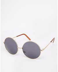 Asos Collection Oversized Metal Round Sunglasses