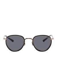 Eyevan 7285 Black And Gold 78746 Sunglasses
