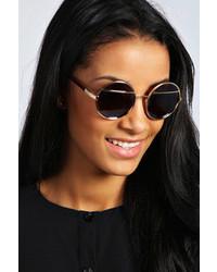 Boohoo Rach Round Frame Sunglasses