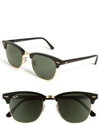 Classic clubmaster 51mm sunglasses dark tortoise green medium 204459