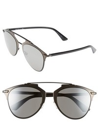 Dior reflected 52mm brow bar sunglasses light gold black medium 324192