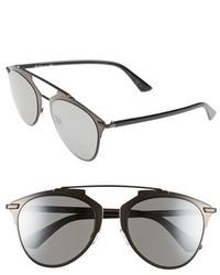 Dior reflected 52mm brow bar sunglasses palladium white medium 324192