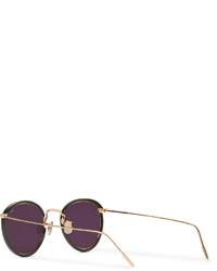 2f18eda110c ... Eyevan 7285 Round Frame Acetate And Metal Sunglasses