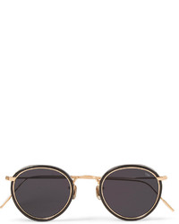 Eyevan 7285 Round Frame Acetate And Metal Sunglasses