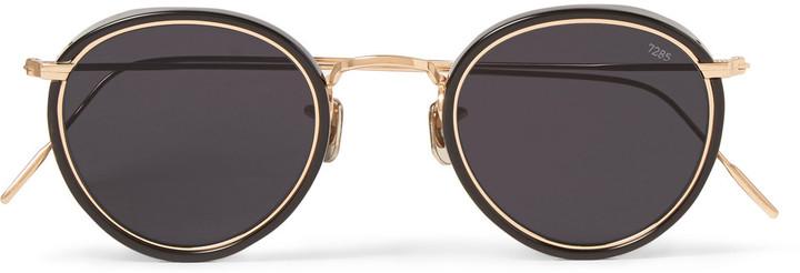 9c4dc3ac891 ... Eyevan 7285 Round Frame Acetate And Metal Sunglasses ...