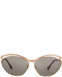 bec5a2ce8fadb ... Balenciaga Floating Metal Aviator Sunglasses Rose Golden