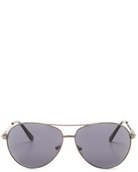 Kenneth Cole Reaction Gunmetal Metal Aviator Sunglasses