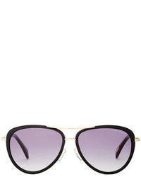 Ted Baker London Boardered Aviator Sunglasses
