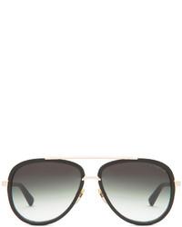 Dita Mach Two Polarized Sunglasses In Matte Black Gold