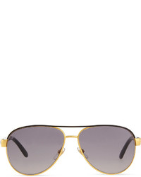 c8156e266b2e ... Gucci Metal Aviator Sunglasses Black