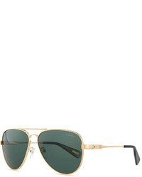 Lanvin Metal Aviator Sunglasses Gold
