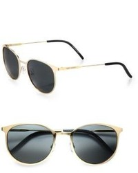 Saint Laurent Metal Oval Sunglasses