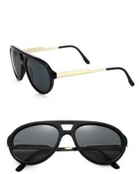 Stella McCartney Metal Plastic Aviator Sunglasses