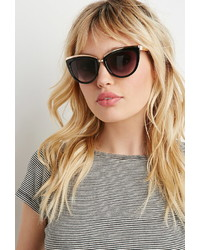 Forever 21 Metallic Trim Cat Eye Sunglasses