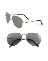MICHAEL Michael Kors Michl Michl Kors 58mm Metal Aviator Sunglasses Silver One Size