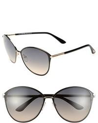Tom Ford Penelope 59mm Gradient Cat Eye Sunglasses Shiny Rose Gold Black
