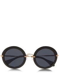 Miu Miu Round Frame Acetate Sunglasses