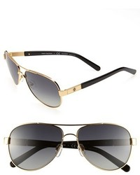Small 57mm polarized metal aviator sunglasses gold medium 218163