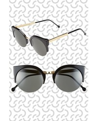 Super By Retrosuperfuture 52mm Lucia Sunglasses Black Gold