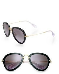 Miu Miu Teardrop 53mm Aviator Sunglasses