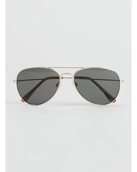 Topman Gold Aviator Sunglasses