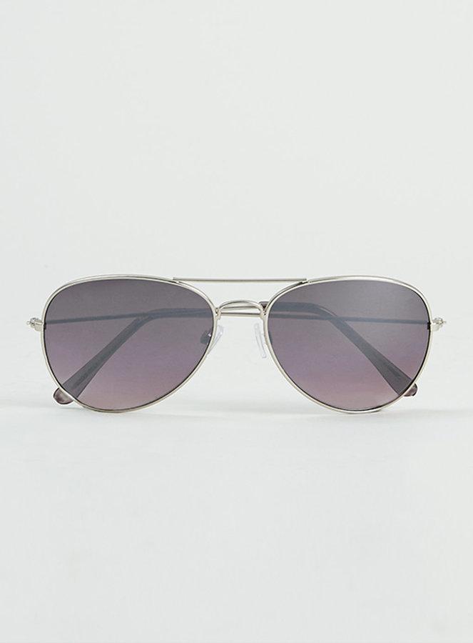 d7440660183 ... Topman Silver Aviator Sunglasses ...