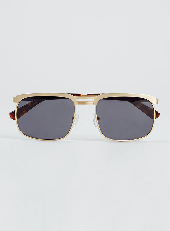 Topman Sunglasses  topman tmd gold navigator sunglasses where to how to wear