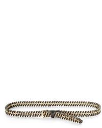 BCBGMAXAZRIA Whipstitch Chain Waist Belt