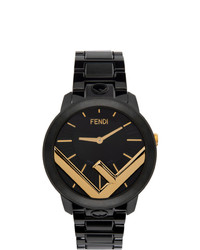 Fendi Black And Gold Run Away F Is Watch